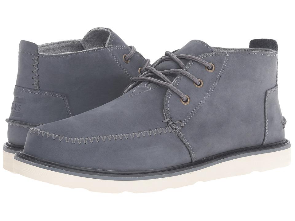 TOMS - Chukka Boot (Waterproof/Castlerock Grey Nubuck) Men's Lace-up Boots