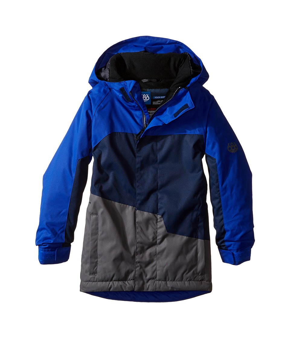 686 Kids - Grid Insulated Jacket (Big Kids) (Cobalt Color Block) Boy's Coat
