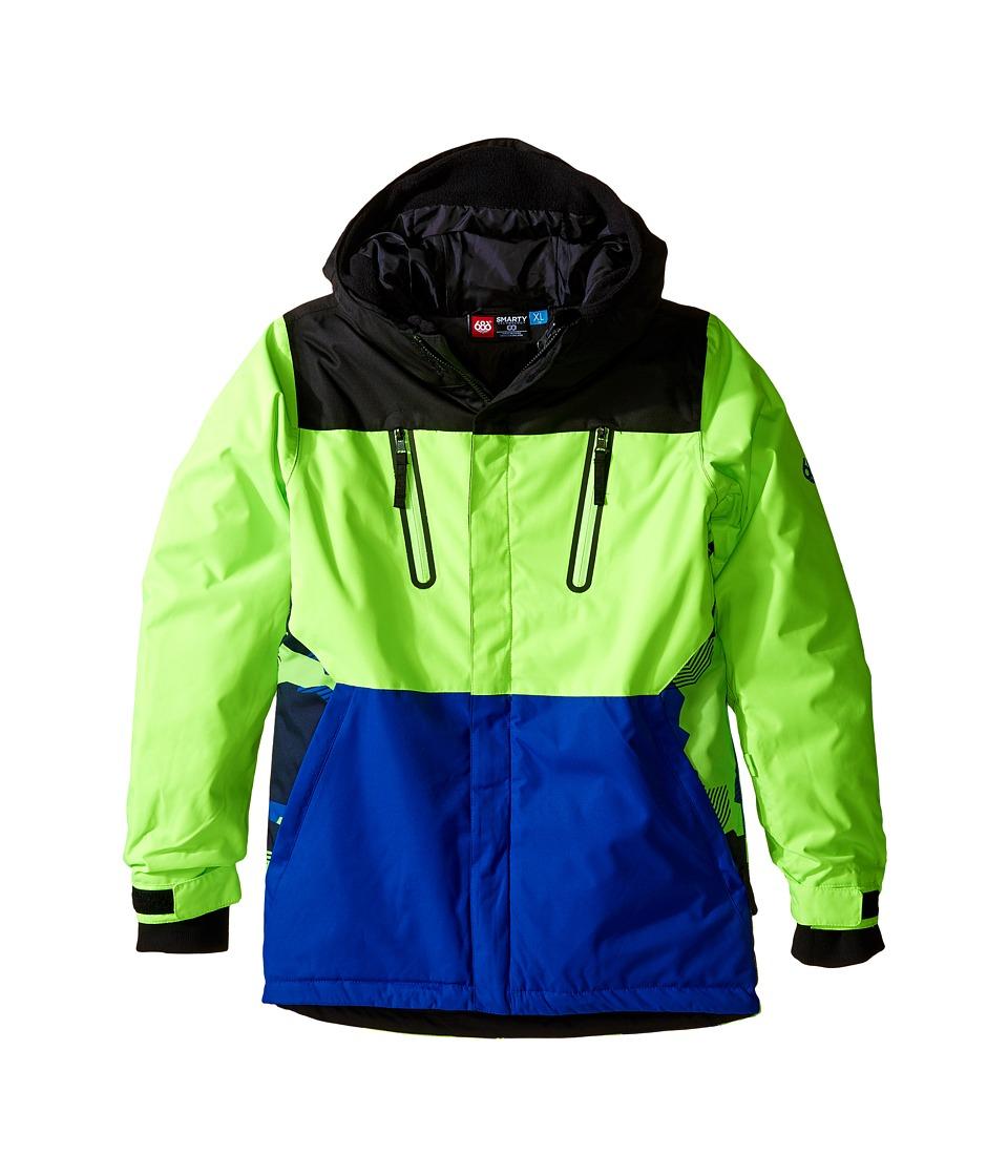 686 Kids - Smarty Merge Jacket (Big Kids) (Mantis Green Color Block) Boy's Coat