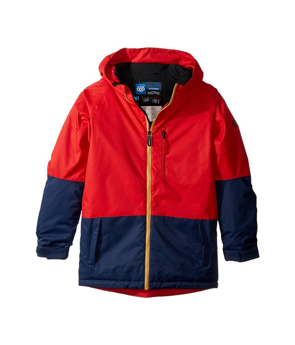 686 Kids - Jinx Insulated Jacket (Big Kids) (Midnight Blue Color Block) Boy's Coat