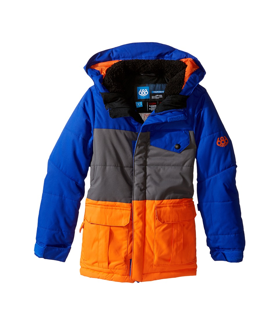 686 Kids - Onyx Insulated Jacket (Big Kids) (Cobalt Color Block) Boy's Coat