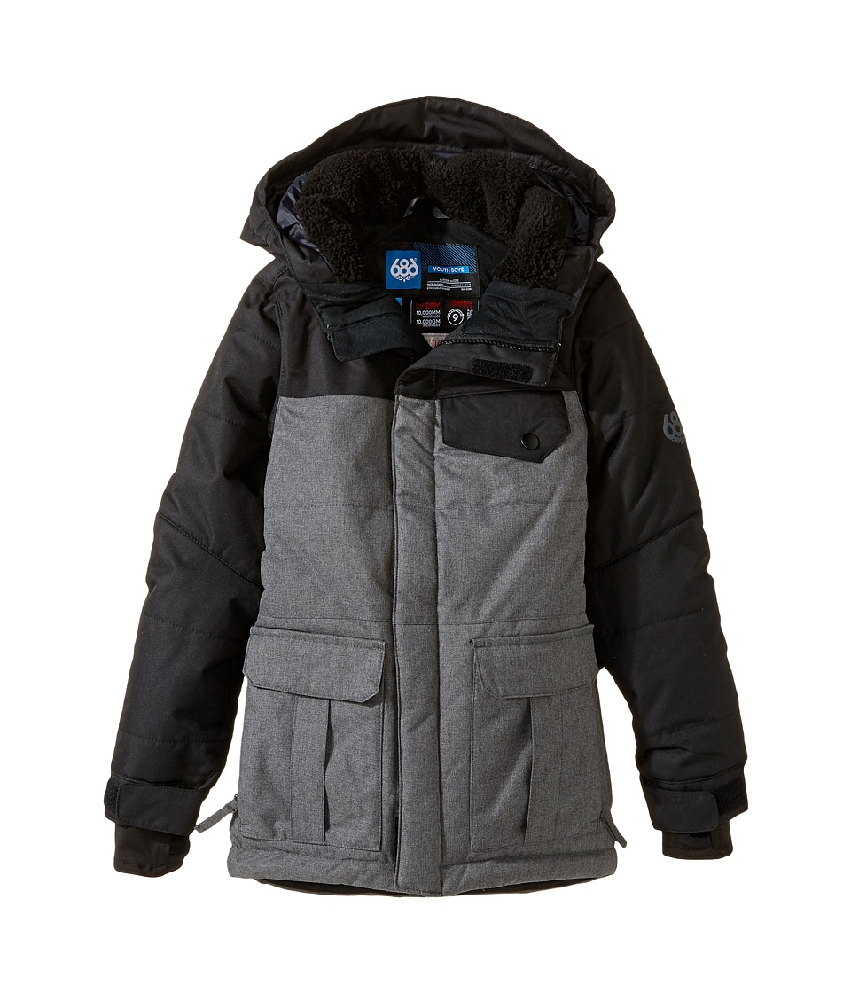 686 Kids - Onyx Insulated Jacket (Big Kids) (Steel Melange Color Block) Boy's Coat
