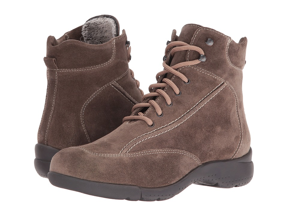 La Canadienne - Trista (Stone Suede/Cozy) Women's Lace-up Boots