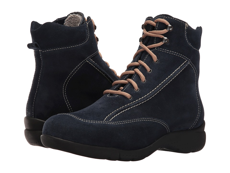 La Canadienne - Trista (Navy Suede/Cozy) Women's Lace-up Boots