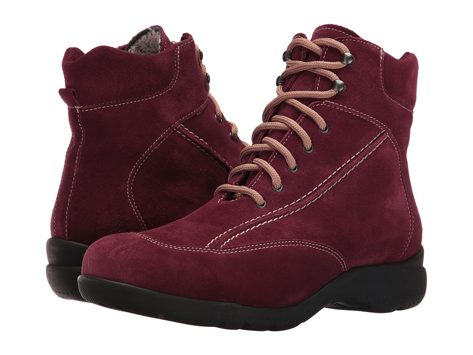 La Canadienne - Trista (Wine Suede/Cozy) Women's Lace-up Boots