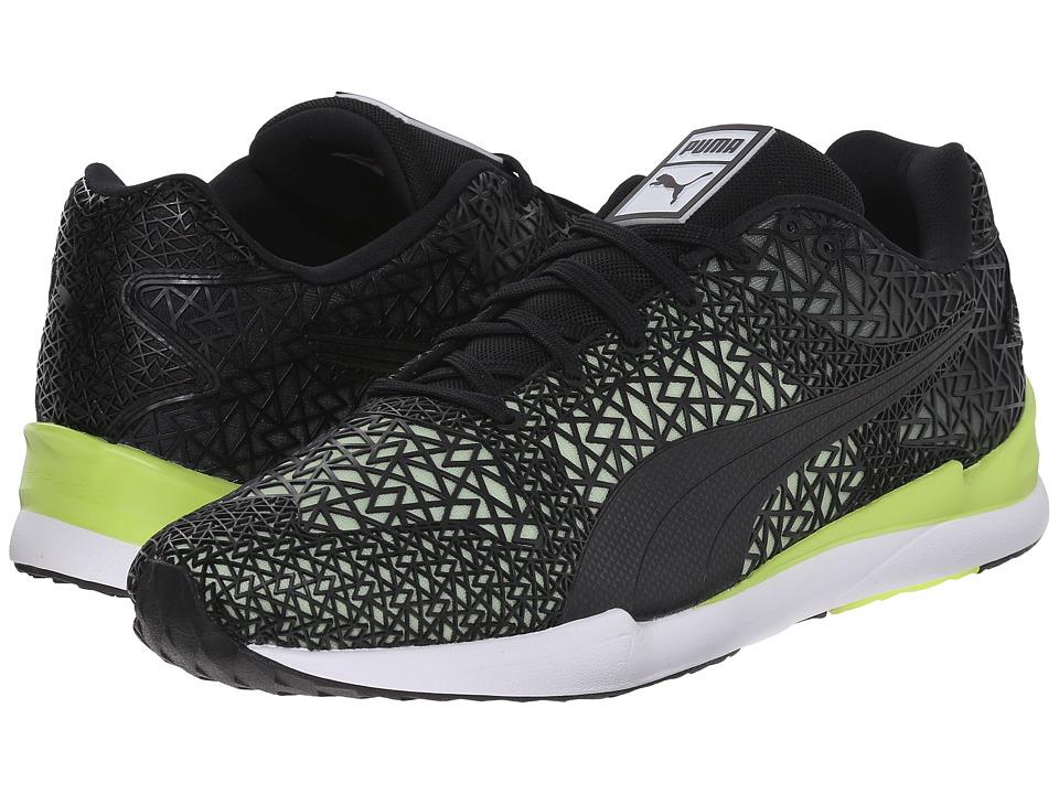 PUMA - XS500 TK Fade (Black/Sharp Green) Men's Shoes