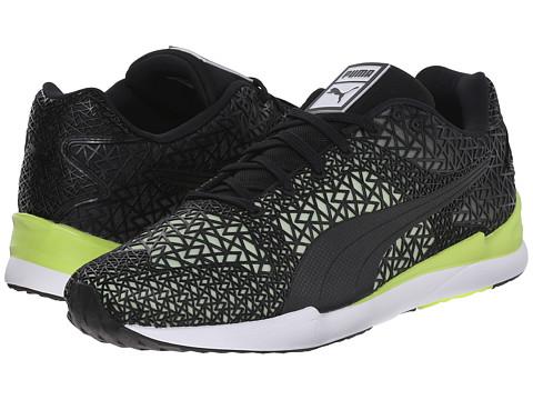 PUMA - XS500 TK Fade (Black/Sharp Green) Men's Shoes