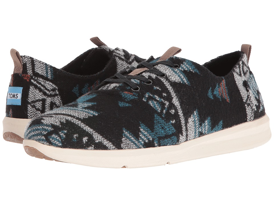 TOMS Del Rey (Black/Teal Tribal Wool) Men