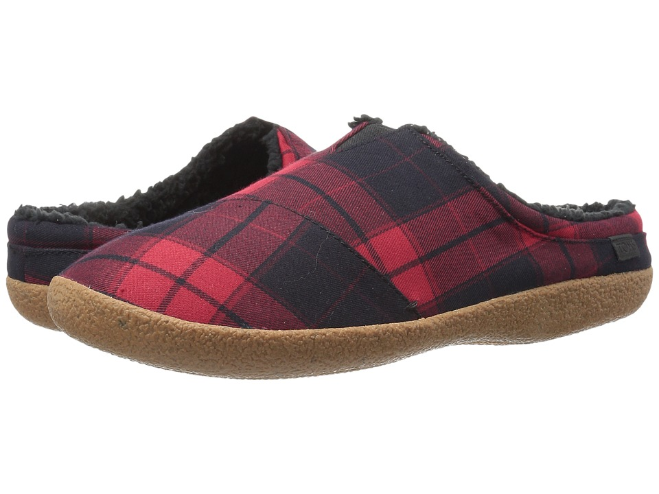 TOMS - Berkeley Slipper (Red Plaid) Men's Shoes