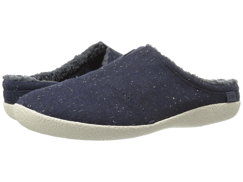 TOMS - Berkeley Slipper (Navy Fleck) Men's Shoes