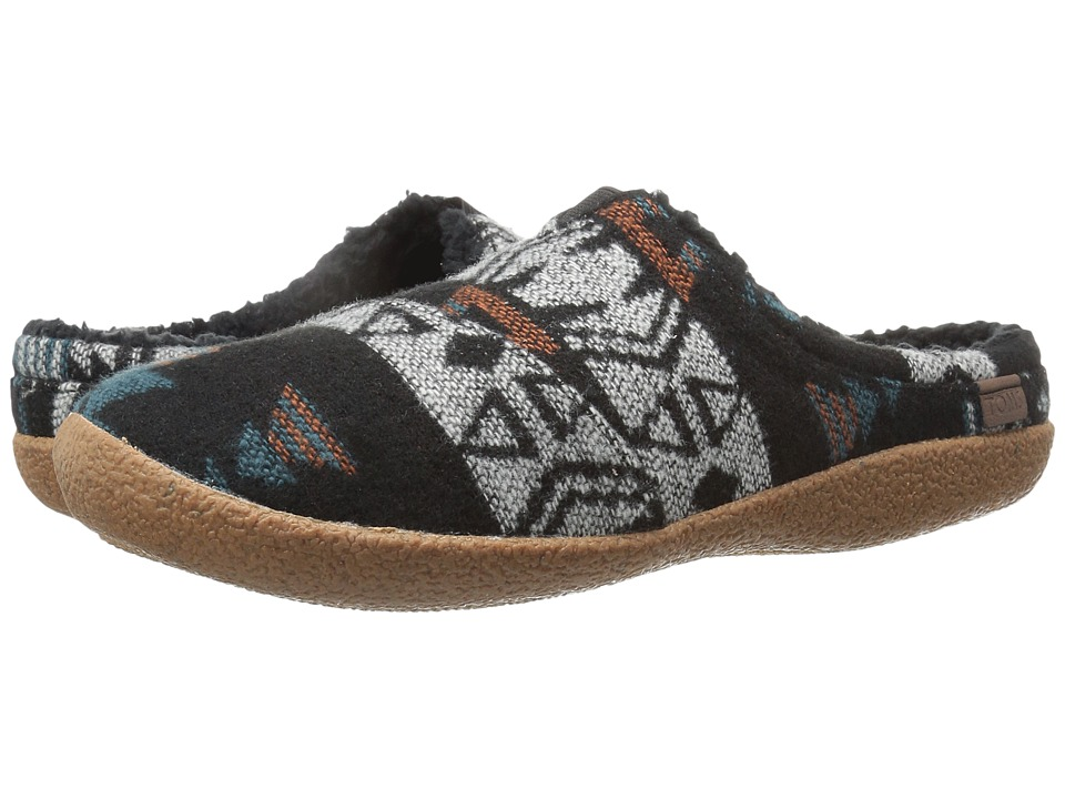 TOMS - Berkeley Slipper (Black/Teal Tribal Wool) Men's Shoes