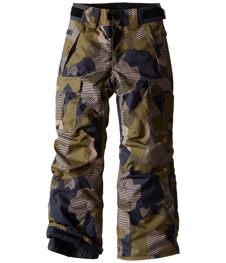 686 Kids - All Terrain Insulated Pants (Big Kids) (Olive Geo Camo) Boy's Casual Pants
