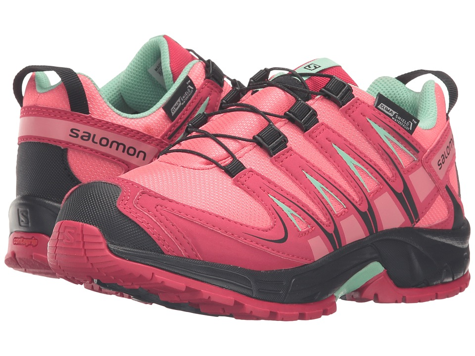 Salomon Kids - Xa Pro 3D Cswp (Little Kid/Big Kid) (Madder Pink/Lotus Pink/Lucite Green) Girls Shoes