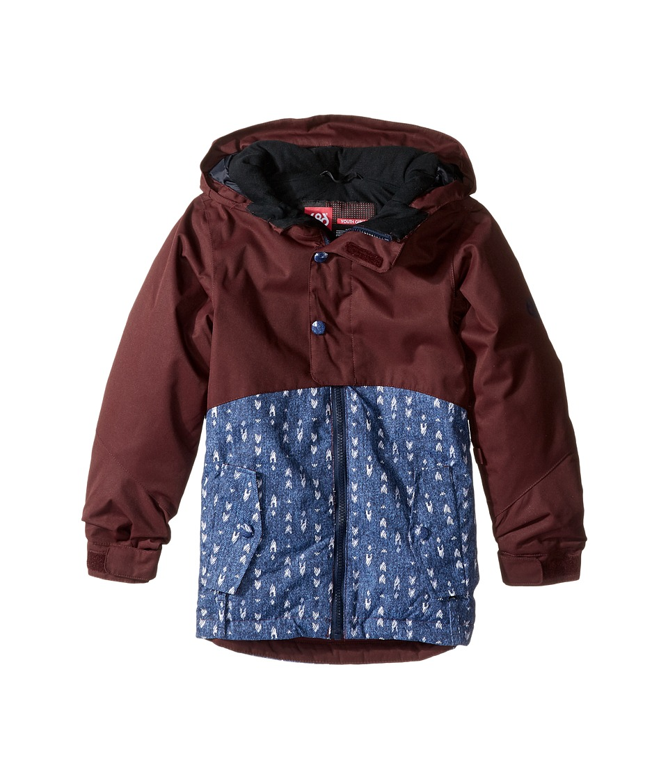 686 Kids Scarlet Insulated Jacket (Big Kids) (Black Ruby Color Block) Girl