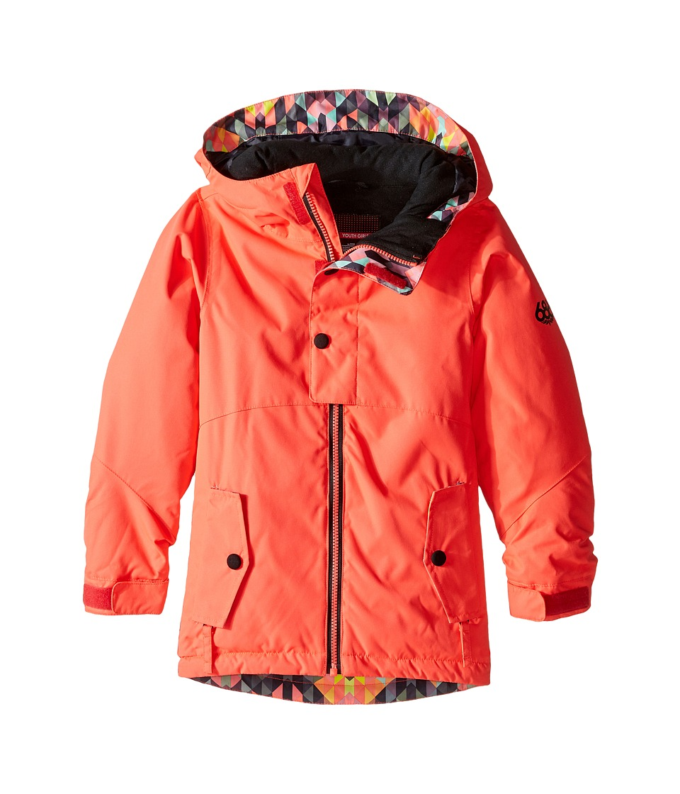 686 Kids - Scarlet Insulated Jacket (Big Kids) (Electric Poppy Color Block) Girl's Coat