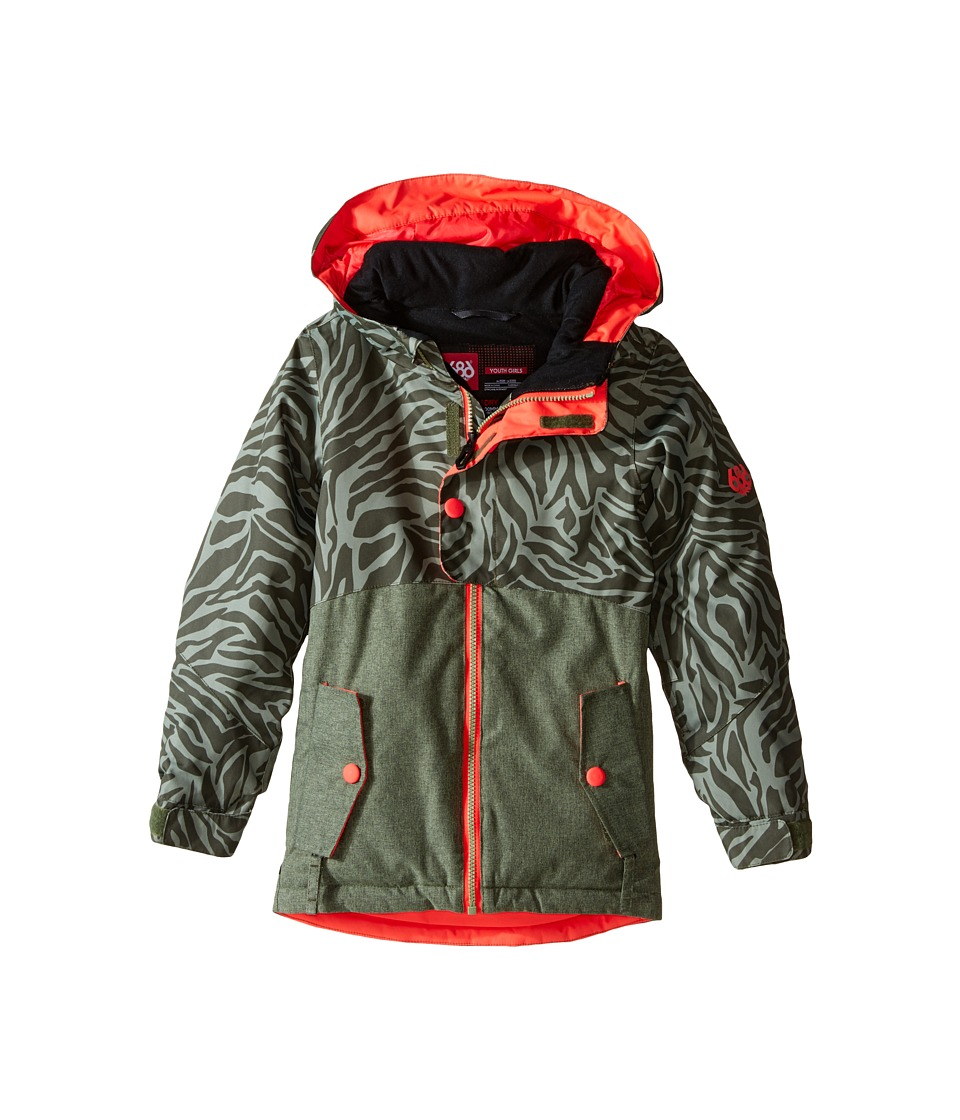 686 Kids Scarlet Insulated Jacket (Big Kids) (Tiger Army Print) Girl