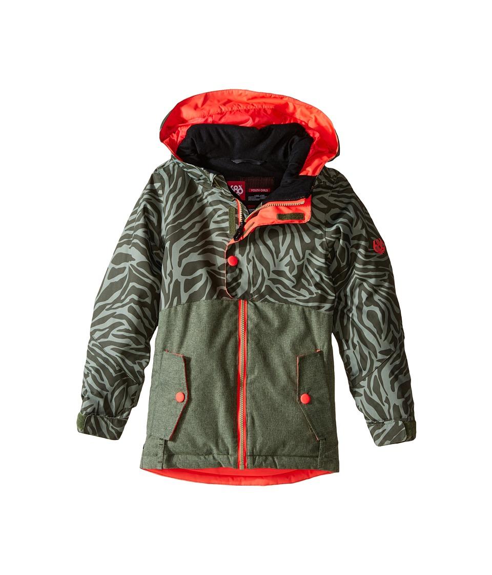 686 Kids - Scarlet Insulated Jacket (Big Kids) (Tiger Army Print) Girl's Coat