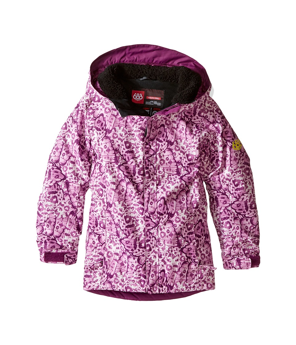 686 Kids Flora Insulated Jacket (Big Kids) (Wing Print) Girl