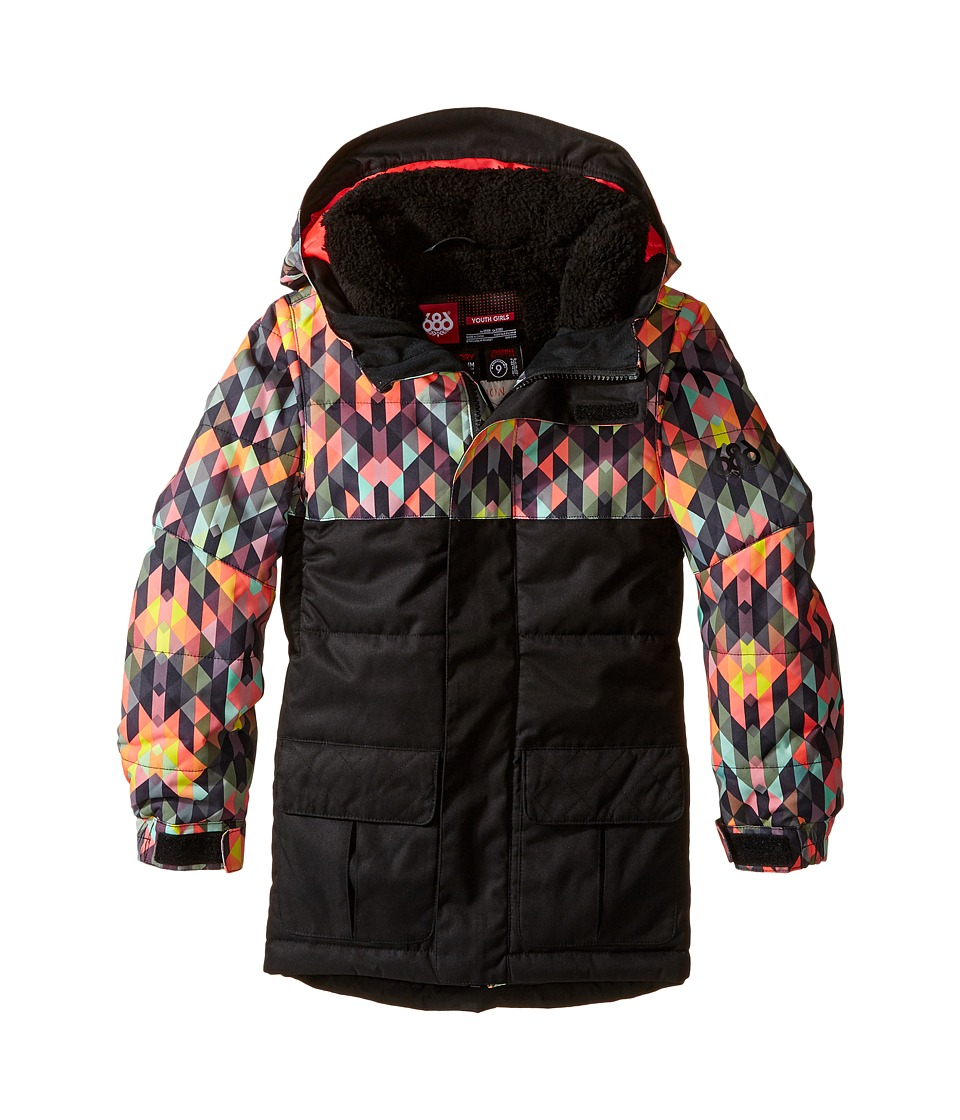 686 Kids - Polly Insulated Jacket (Big Kids) (Kaleidoscope) Girl's Coat