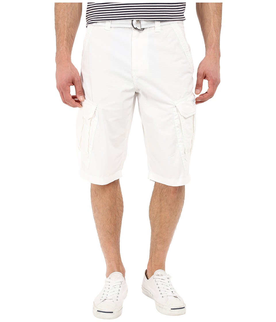 UNIONBAY - Lewis 13 Belted Short (White) Men's Shorts