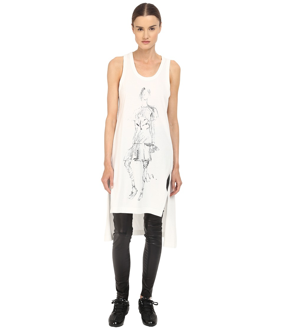 adidas Y-3 by Yohji Yamamoto - W Sketch Tank Top (Core White) Women's Sleeveless