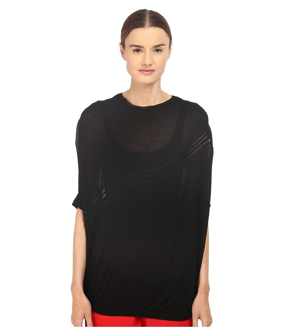 adidas Y-3 by Yohji Yamamoto - W Knit Top (Black/Scarlet) Women's Long Sleeve Pullover
