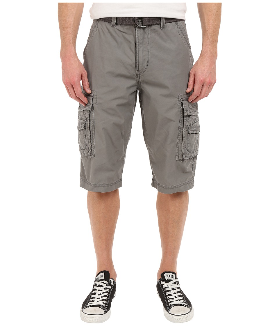 UNIONBAY - Cordova Belted Cargo Short (Grey Goose) Men's Shorts
