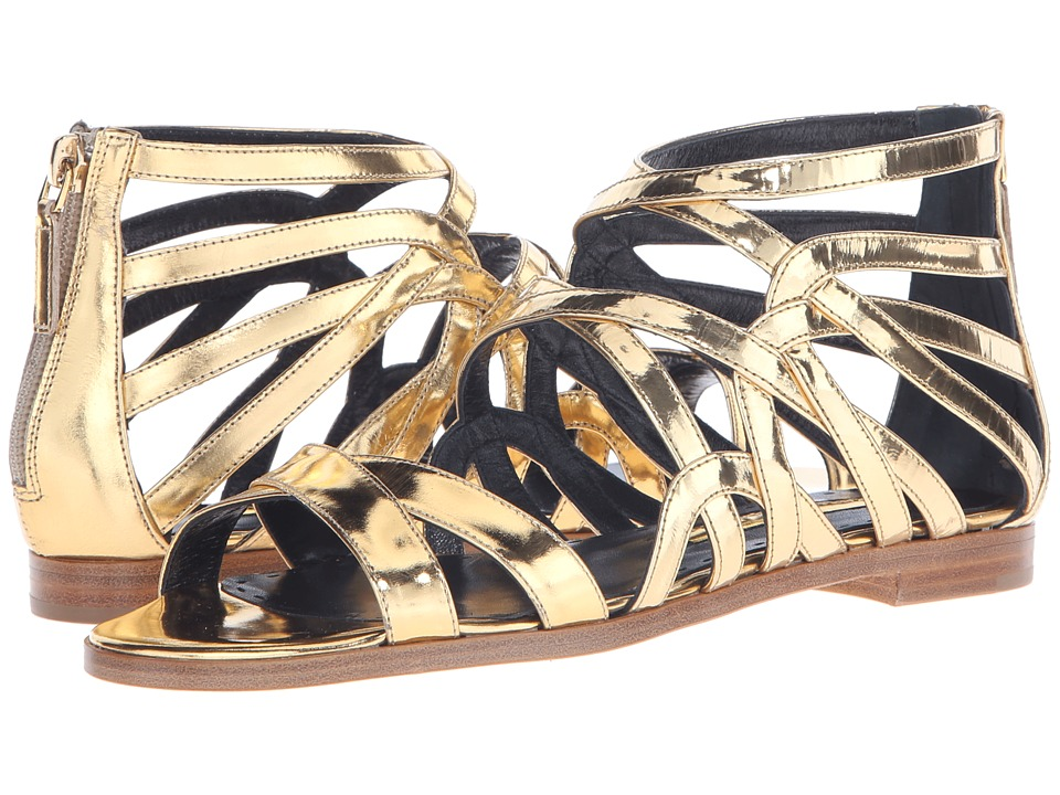 Rupert Sanderson - Tryst Strappy Sandal (Gold Specchio Leather) Women's Sandals