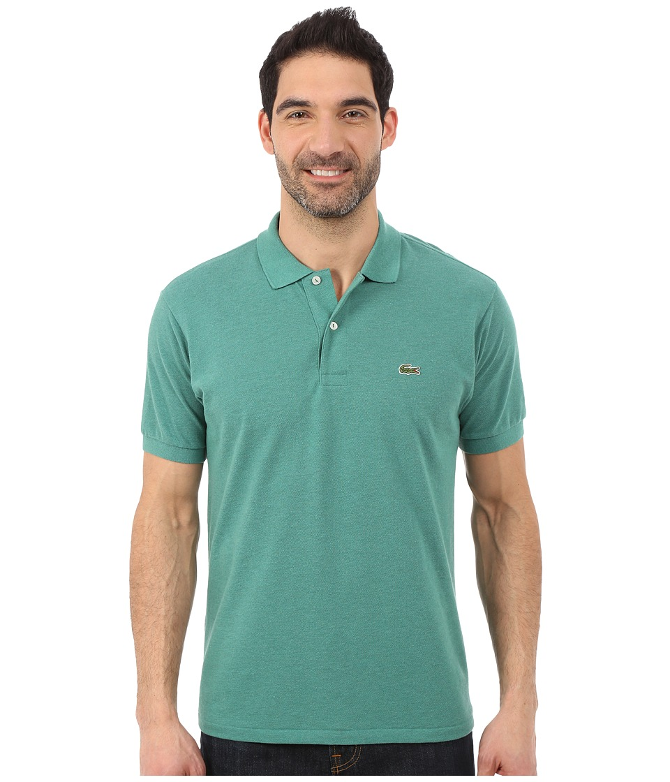 Lacoste - Short Sleeve Chine Classic Pique Polo Shirt (Alpine Chine) Men's Short Sleeve Knit