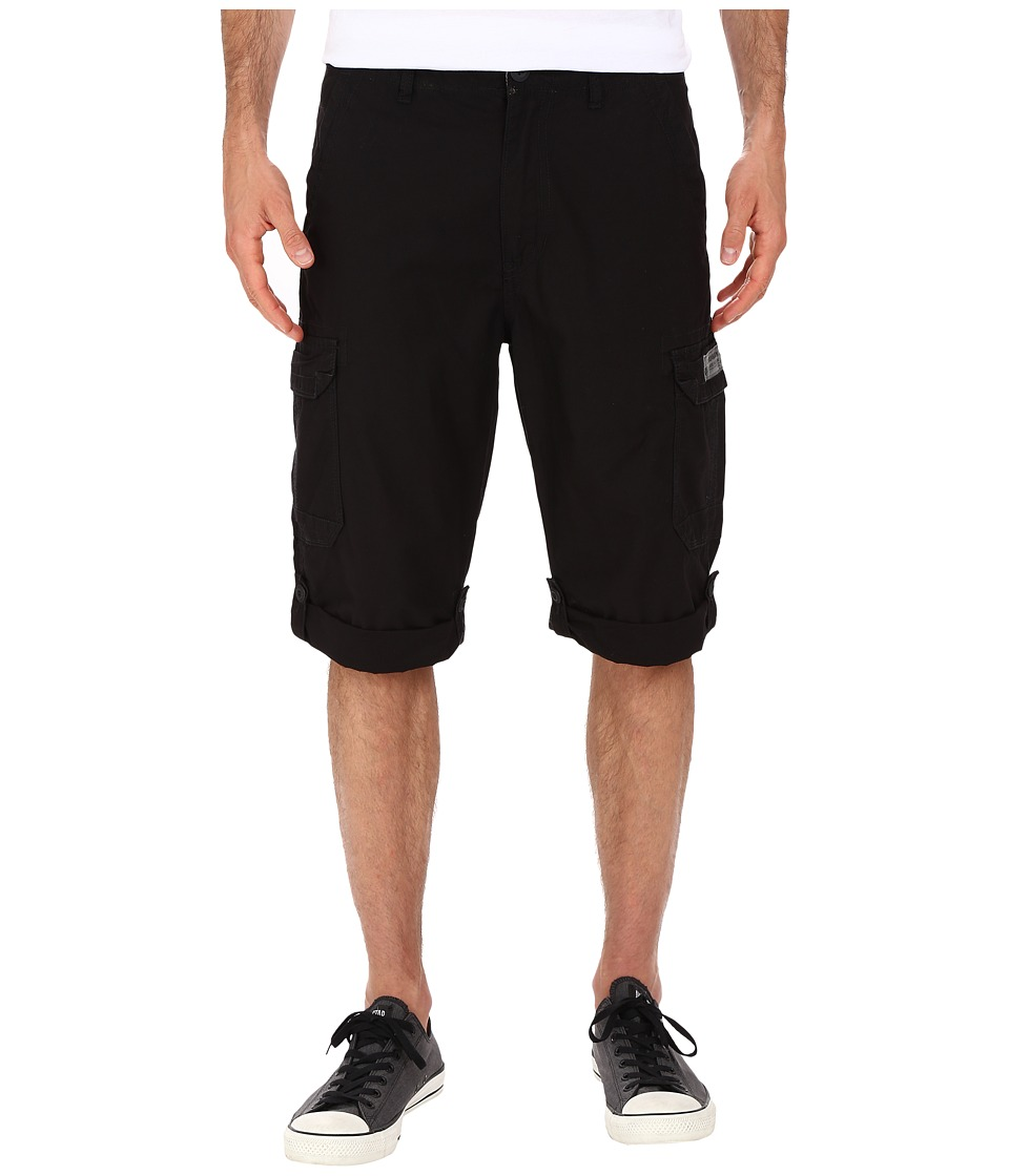 UNIONBAY - Penn Roll Up Cargo Messenger Shorts (Black) Men's Shorts