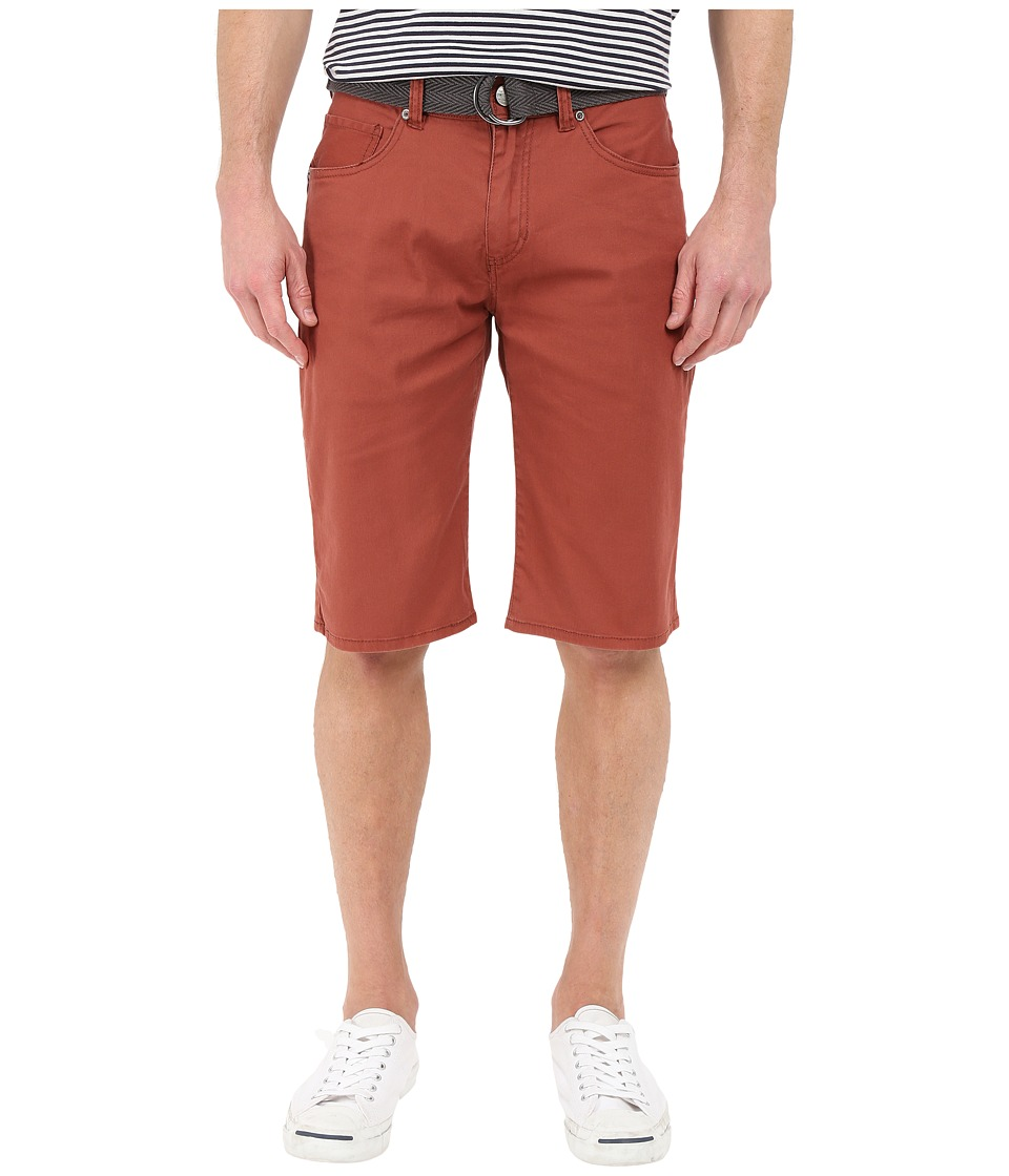 UNIONBAY - Wilder Five-Pocket Stretch Shorts (Red Clay) Men's Casual Pants