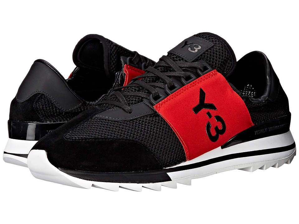 adidas Y-3 by Yohji Yamamoto - Rhita Sport (Core Black/Scarlet/Core Black) Women's Shoes