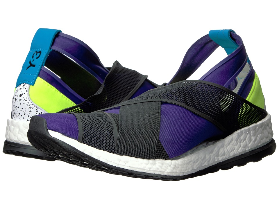 adidas Y-3 by Yohji Yamamoto Dansu Boost Collegiate Purple-Core Black-Solar Yellow Womens Shoes