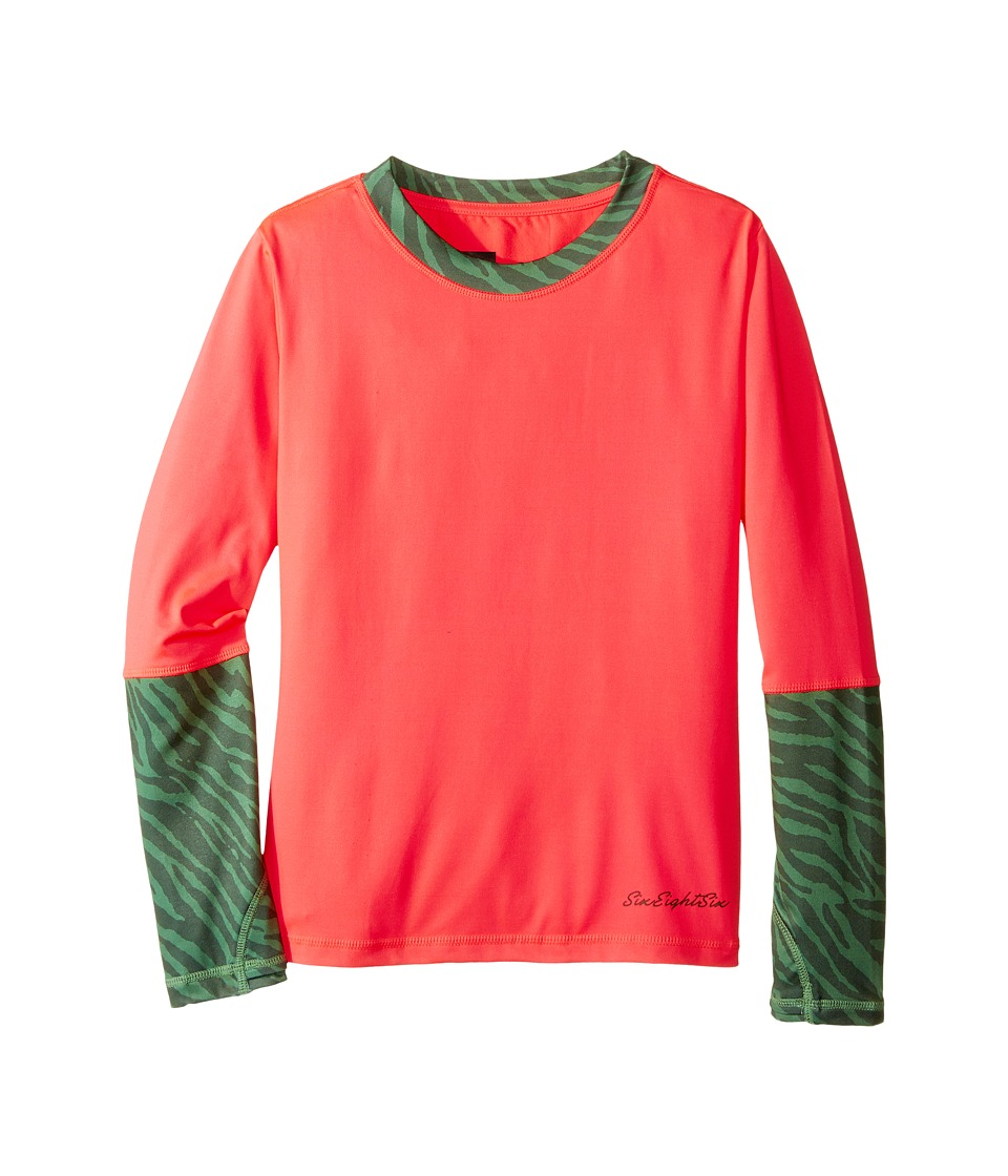 Image of 686 Kids - Serenity Base Layer Top (Big Kids) (Electric Poppy) Girl's Clothing
