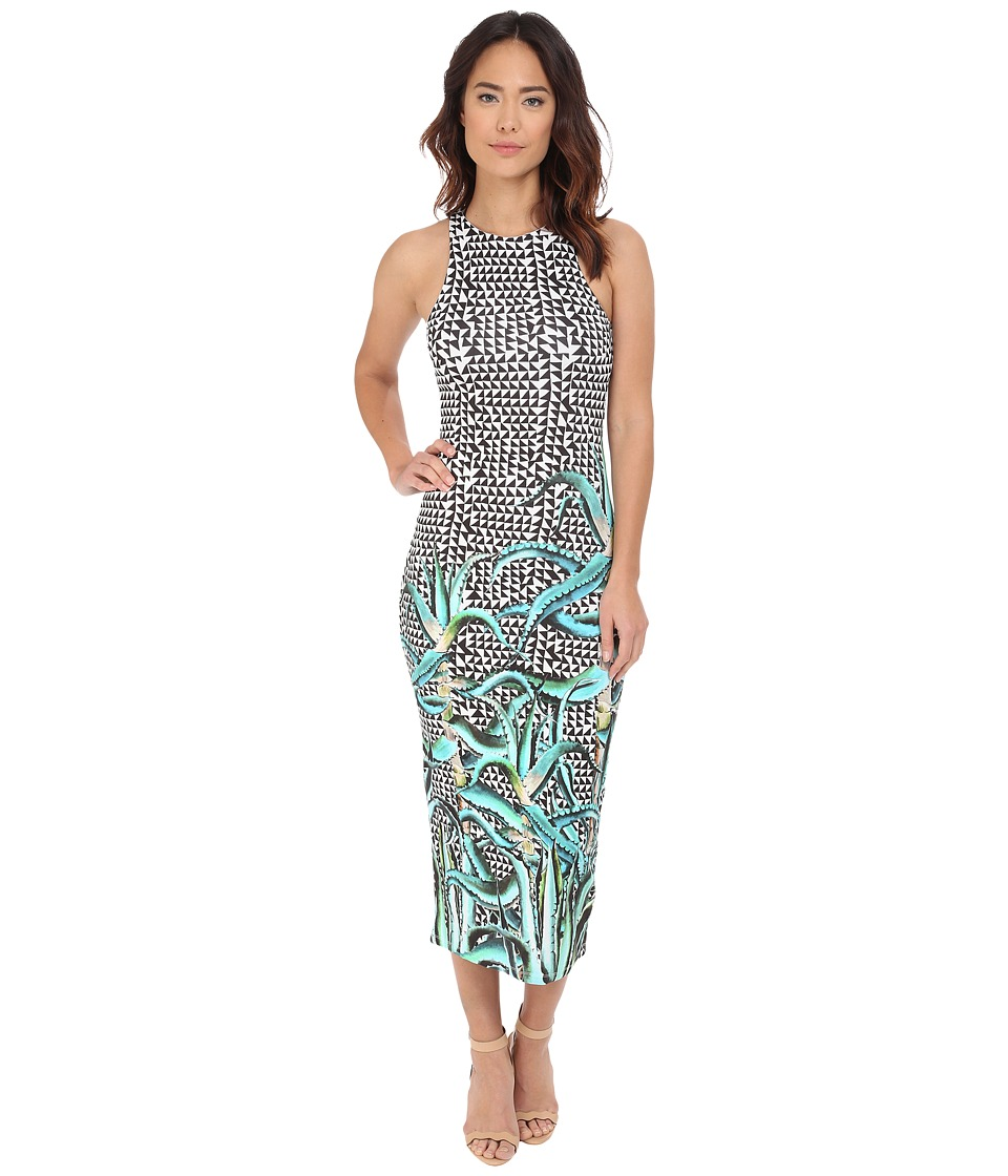 Mara Hoffman Modal Fitted Midi Dress (Aloe Green) Women
