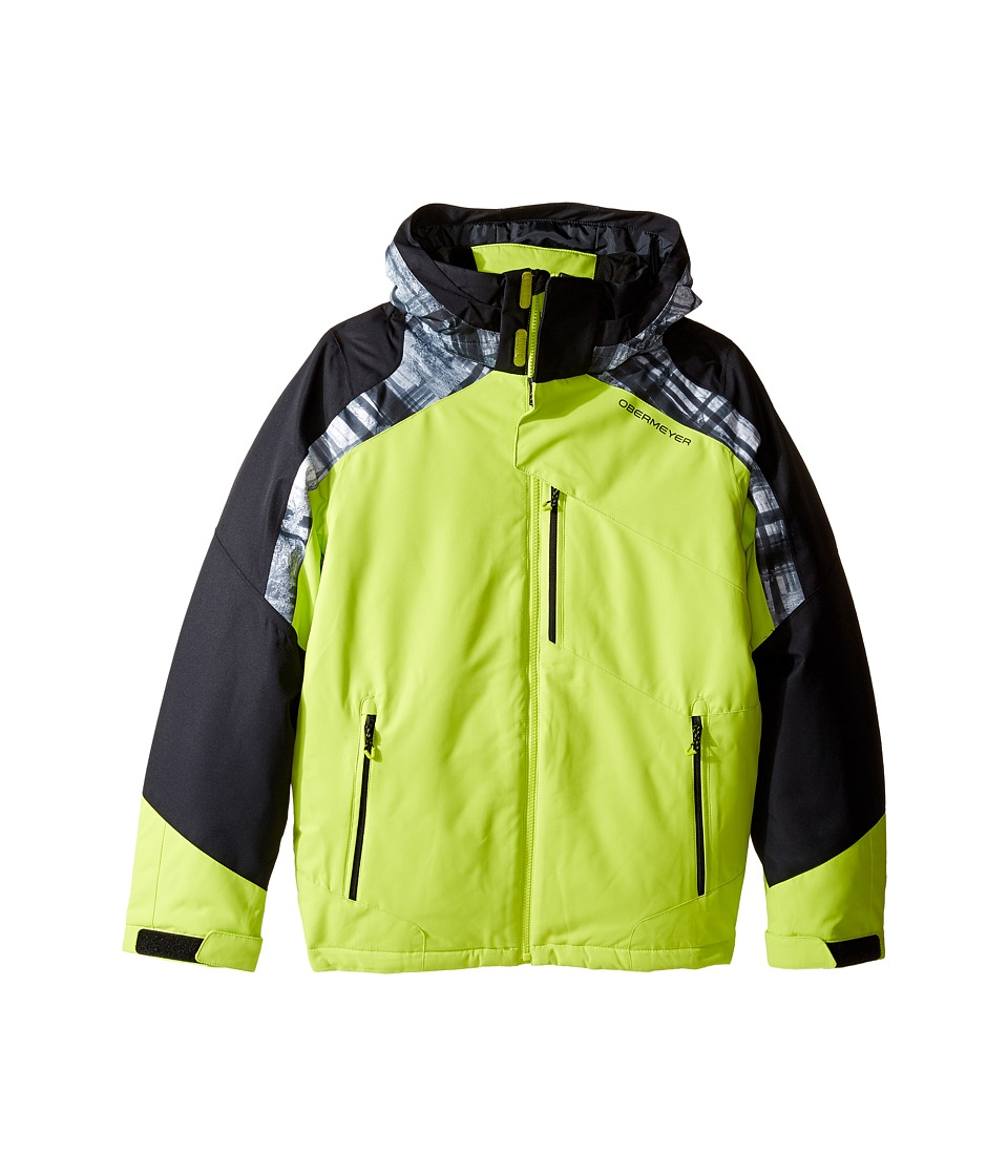 Obermeyer Kids - Outland Jacket (Little Kids/Big Kids) (Screamin' Green) Boy's Coat