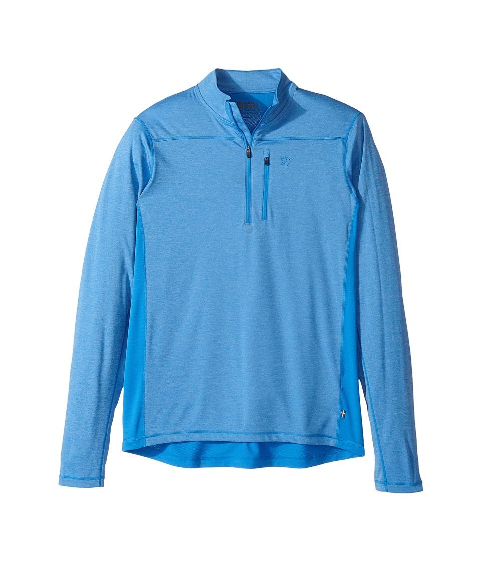 Fjallraven - Abisko Vent Zip T-Shirt Long Sleeve (Uncle Blue) Men's T Shirt