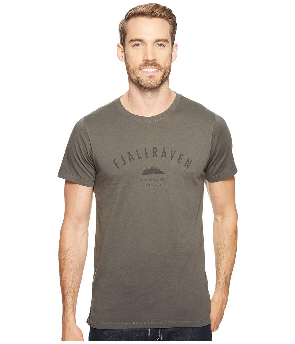 Fjallraven - Trekking Equipment T-Shirt (Mountain Grey/Tarmac) Men's Short Sleeve Pullover