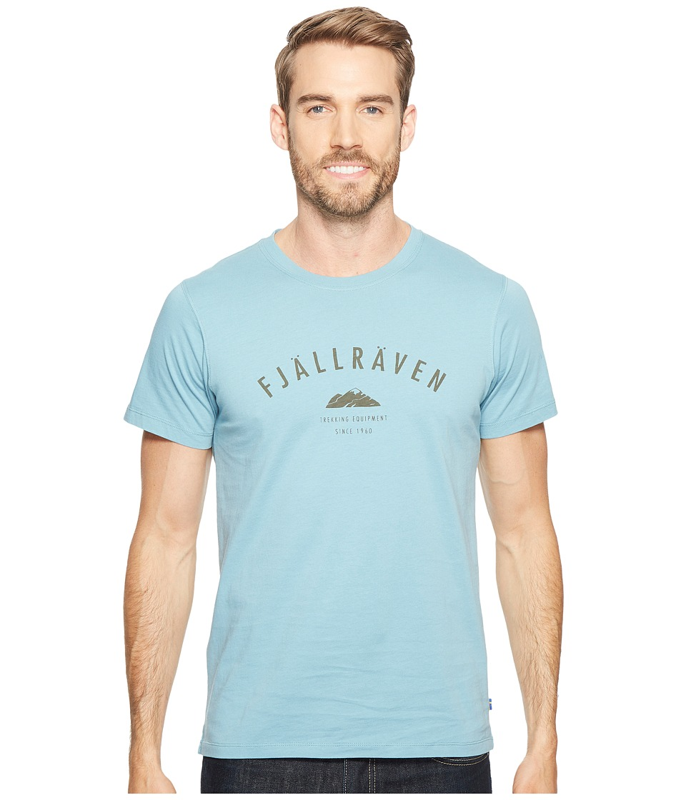 Fjallraven - Trekking Equipment T-Shirt (Creek Blue/Tarmac) Men's Short Sleeve Pullover