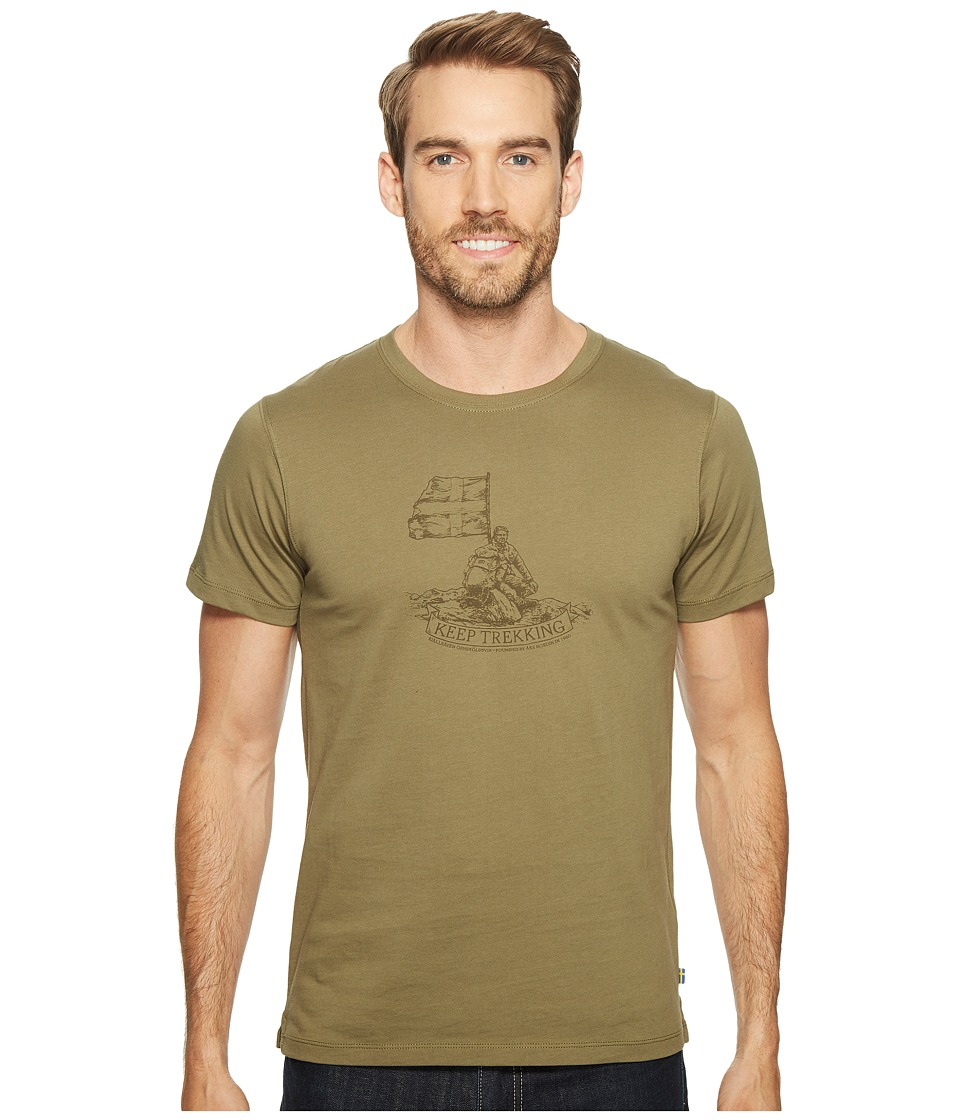 Fjallraven - Keep Trekking T-Shirt (Green) Men's T Shirt