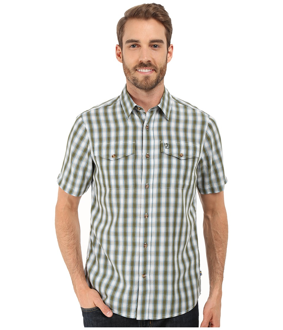 Fj llr ven - Abisko Cool Shirt S/S (Pine Green) Men's Clothing
