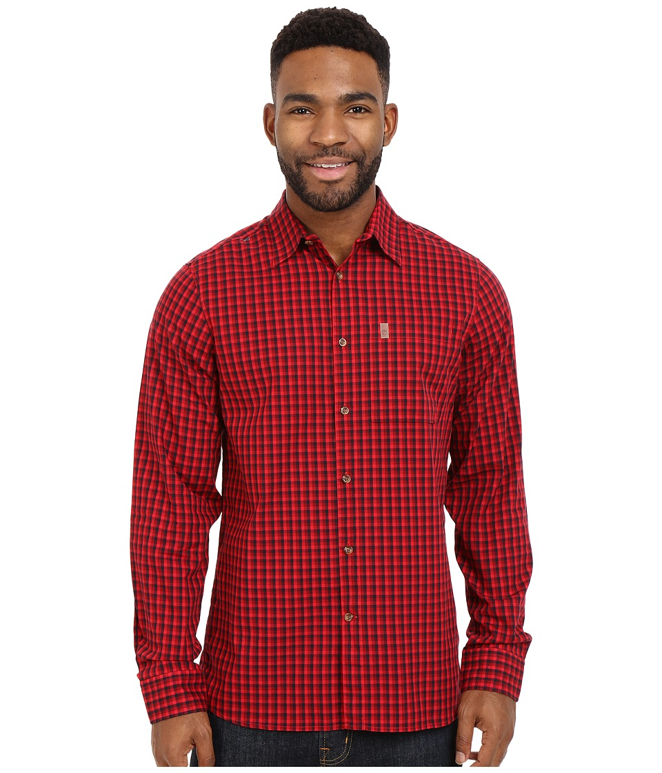 Fj llr ven - Kiruna Shirt Long Sleeve (Deep Red) Men's Clothing