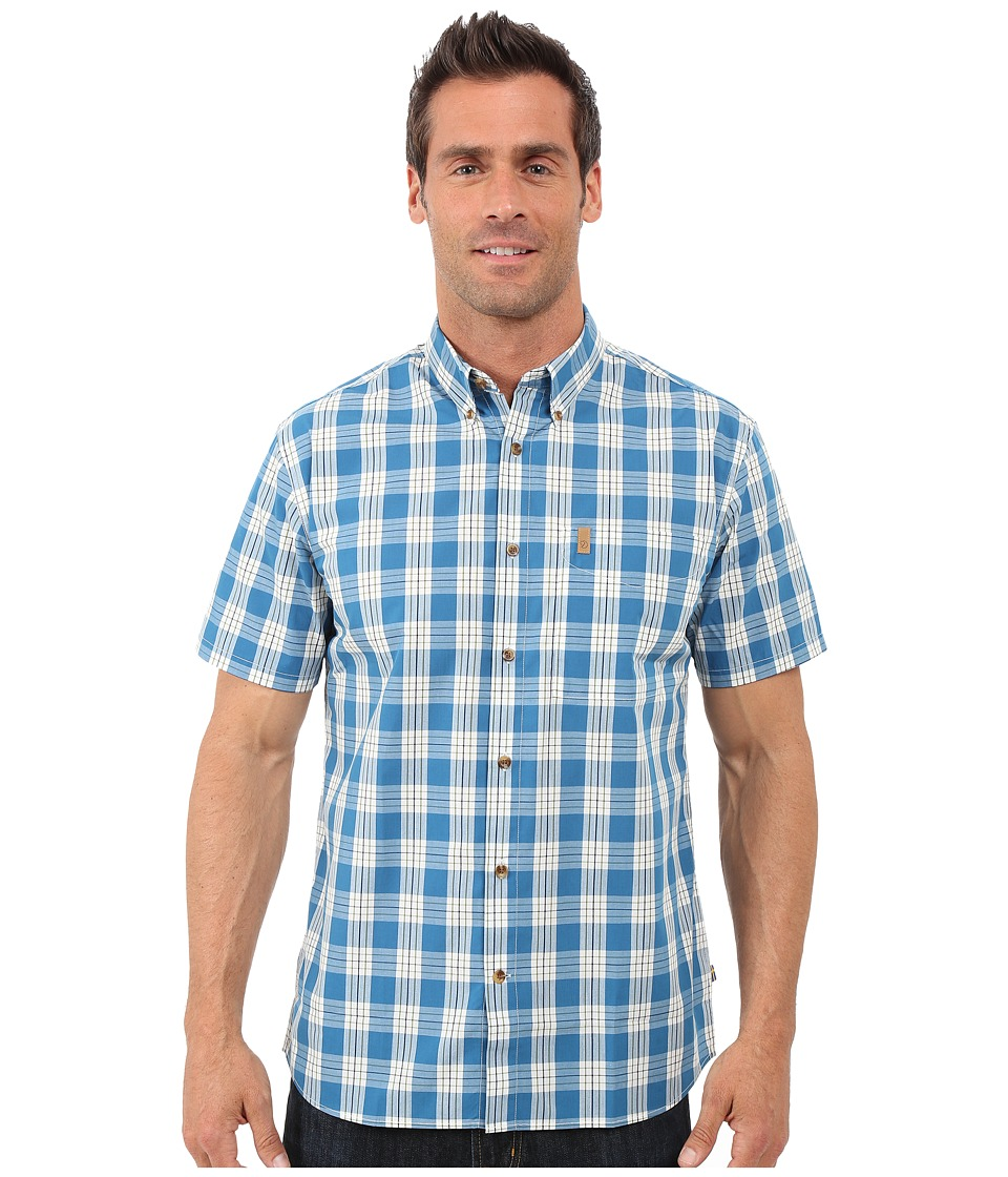 Fj llr ven - Ovik Button Down Shirt Short Sleeve (Lake Blue) Men's Short Sleeve Button Up