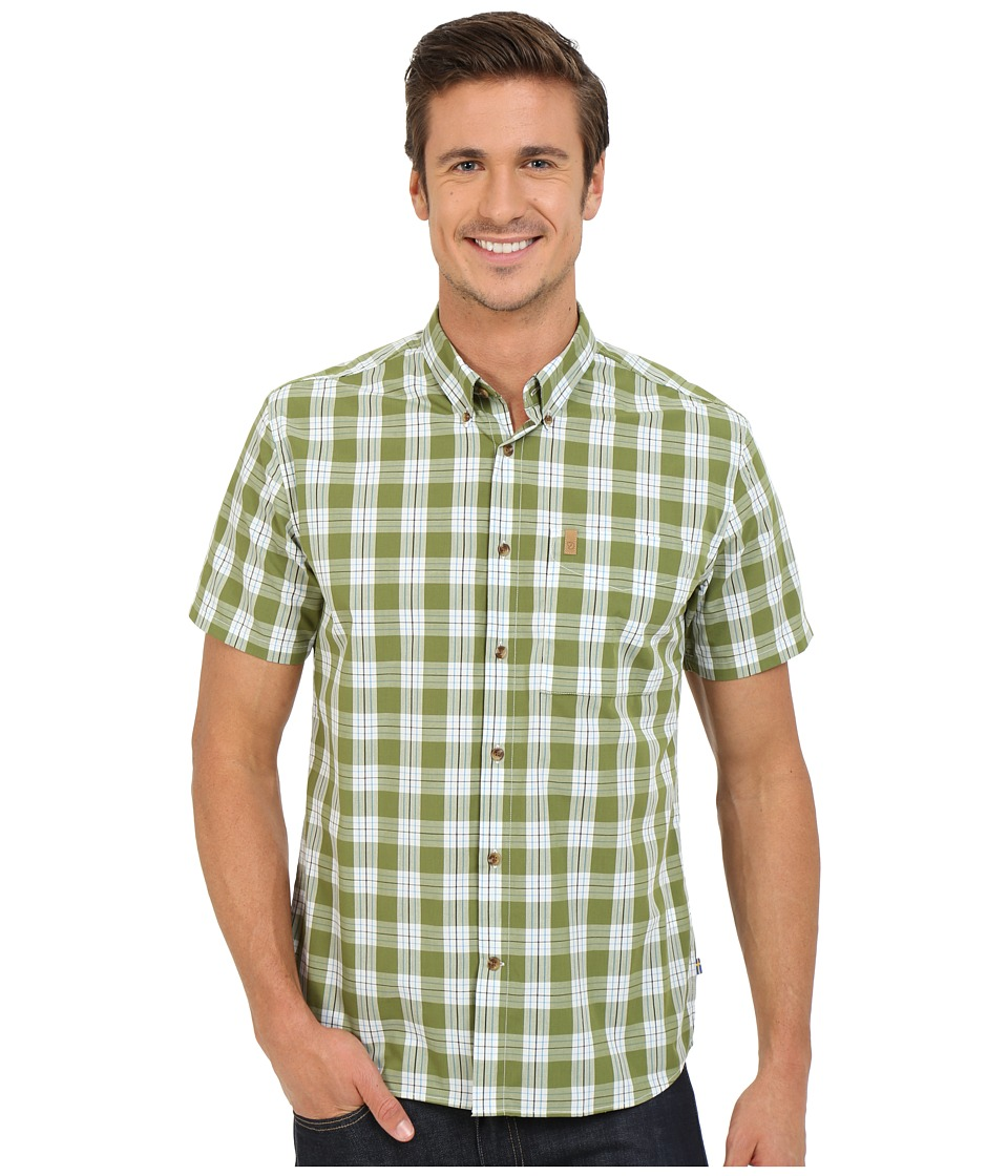 Fj llr ven - Ovik Button Down Shirt Short Sleeve (Meadow Green) Men's Short Sleeve Button Up