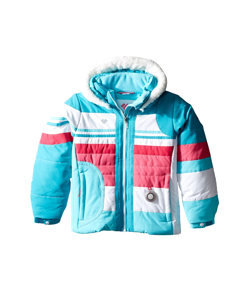 Obermeyer Kids - Snowdrop Jacket with Fur (Toddler/Little Kids/Big Kids) (Blue Reef) Girl's Coat