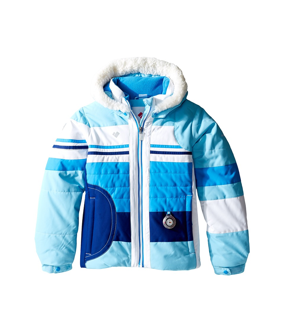 Obermeyer Kids - Snowdrop Jacket with Fur (Toddler/Little Kids/Big Kids) (Blue Sky) Girl's Coat