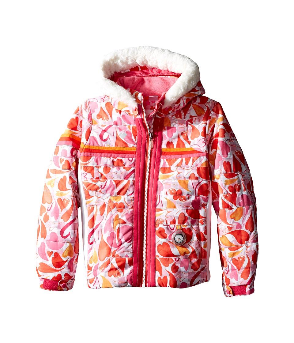 Obermeyer Kids - Snowdrop Jacket with Fur (Toddler/Little Kids/Big Kids) (Heart Gingham) Girl's Coat