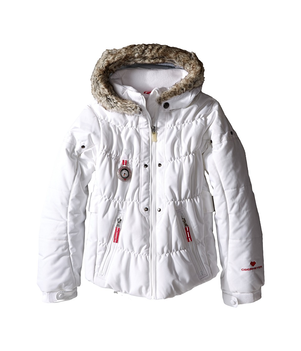 Obermeyer Kids - Juniper Jacket (Toddler/Little Kids/Big Kids) (White) Girl's Coat