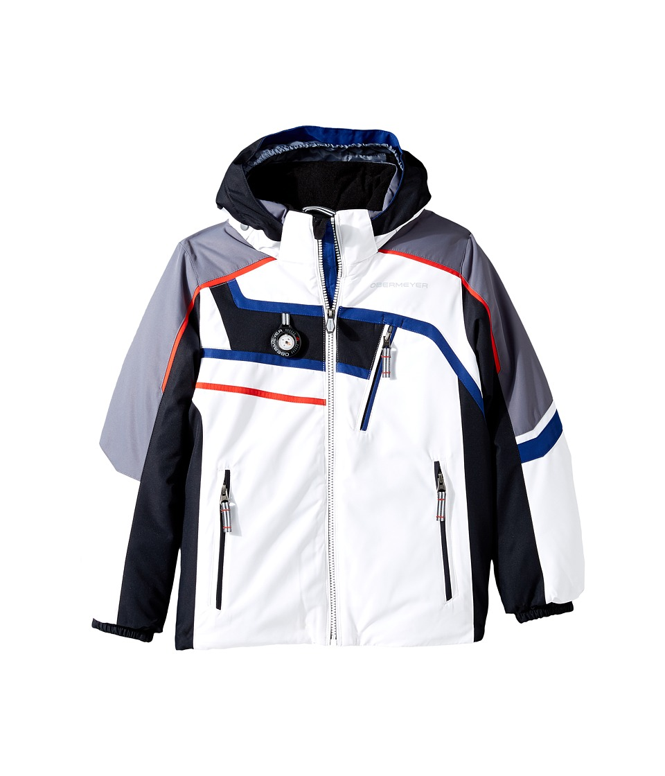 Obermeyer Kids - Tomcat Jacket (Toddler/Little Kids/Big Kids) (White) Boy's Coat