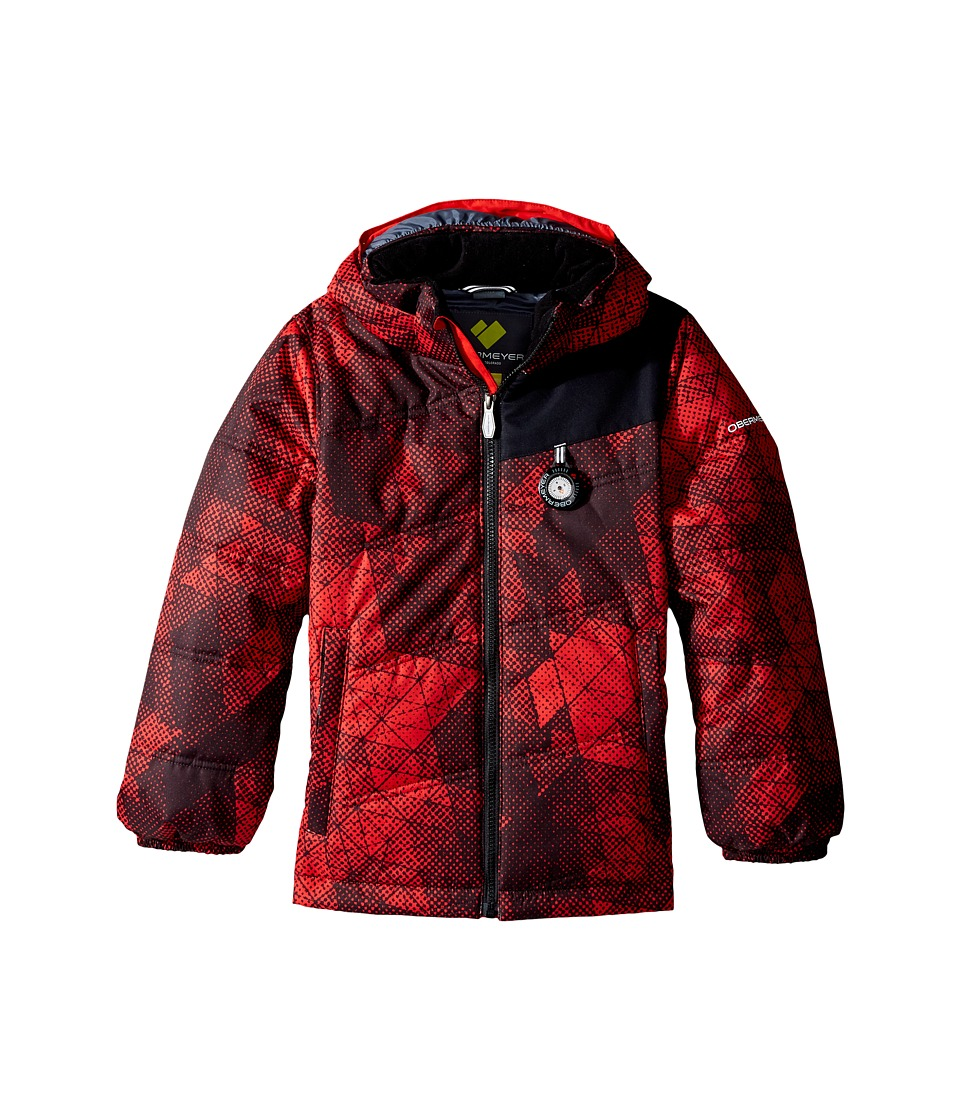 Obermeyer Kids - Stealth Jacket (Toddler/Little Kids/Big Kids) (Red Mesh Print) Boy's Coat